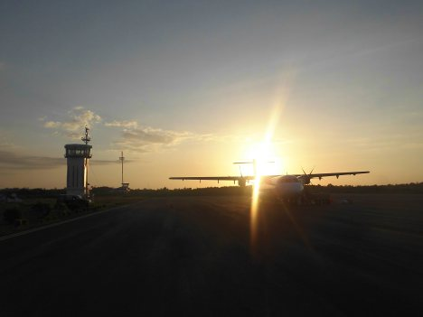 Sunset at Tambolaka Airport