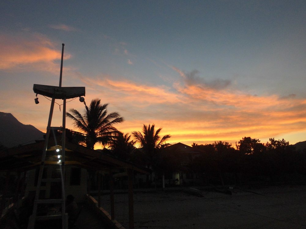 Sunset at Larantuka